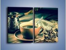 Obraz na płótnie – Czarna kawa arabica – dwuczęściowy prostokątny pionowy JN064