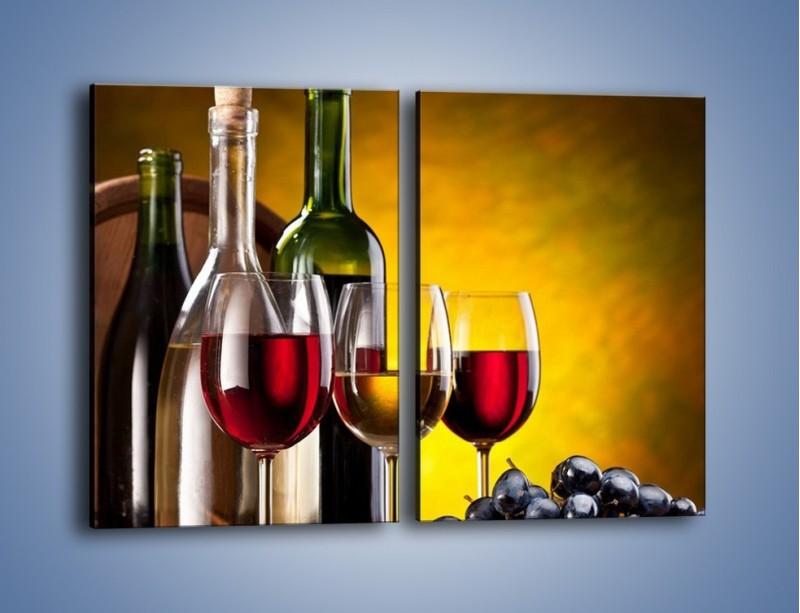 Obraz na płótnie – Wino z orzechami – dwuczęściowy prostokątny pionowy JN077