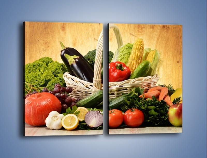 Obraz na płótnie – Kosz pełen warzywnych witamin – dwuczęściowy prostokątny pionowy JN081