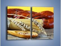 Obraz na płótnie – Chleb pszenno-kukurydziany – dwuczęściowy prostokątny pionowy JN090