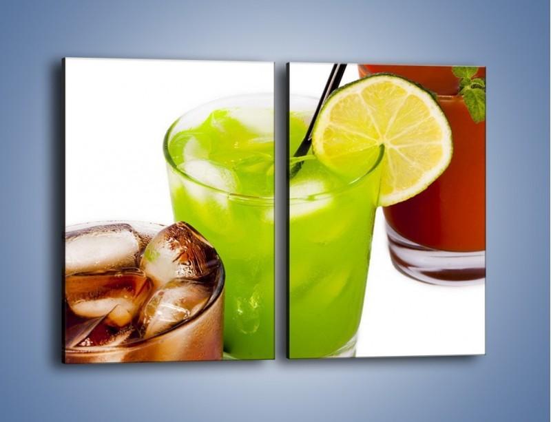 Obraz na płótnie – Kwaśno-słodkie drinki – dwuczęściowy prostokątny pionowy JN093