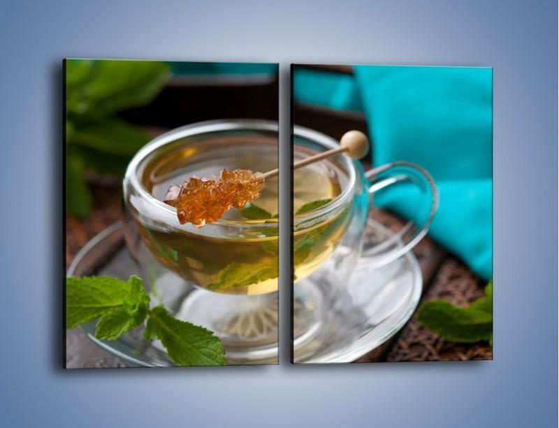Obraz na płótnie – Oczyszczająca zielona herbata – dwuczęściowy prostokątny pionowy JN104