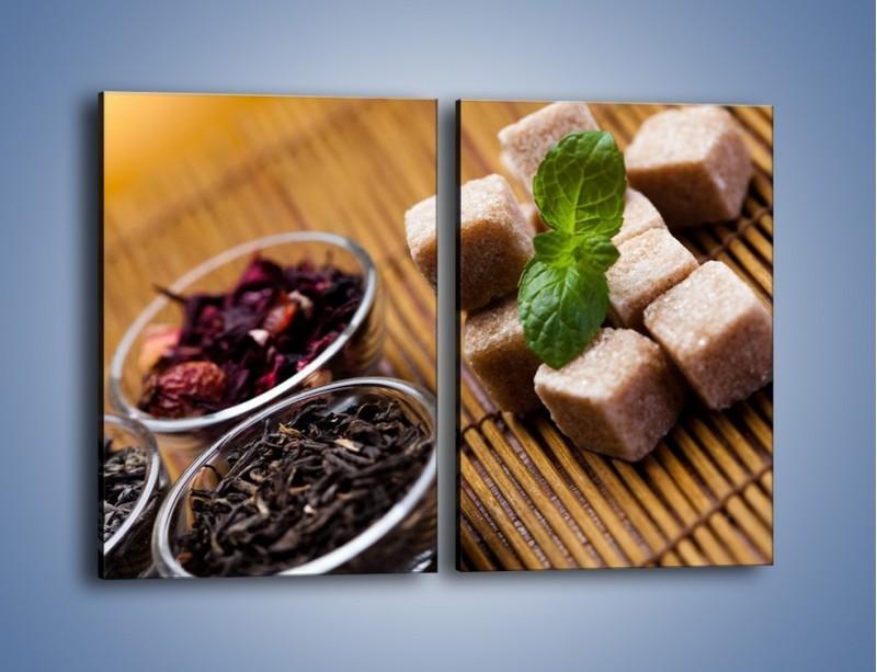 Obraz na płótnie – Ususzone bogactwa natury do herbaty – dwuczęściowy prostokątny pionowy JN105