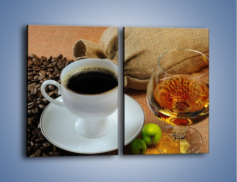 Obraz na płótnie – Wieczorowa kawa z prądem – dwuczęściowy prostokątny pionowy JN166