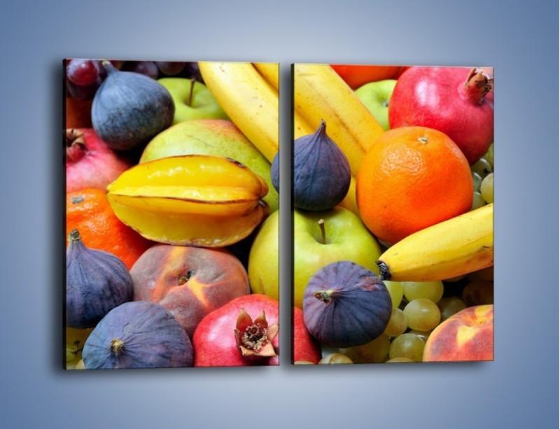 Obraz na płótnie – Owocowe kolorowe witaminki – dwuczęściowy prostokątny pionowy JN173