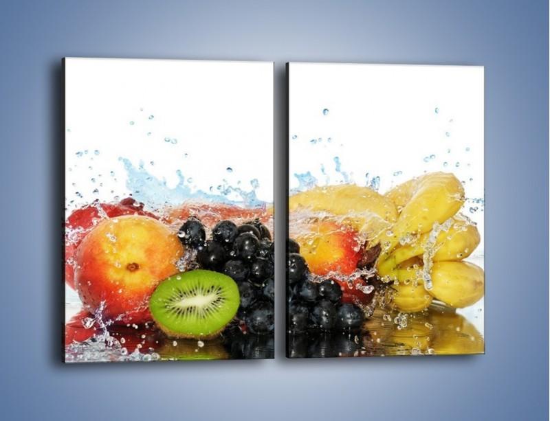 Obraz na płótnie – Owocowe nuty skąpane w wodzie – dwuczęściowy prostokątny pionowy JN176