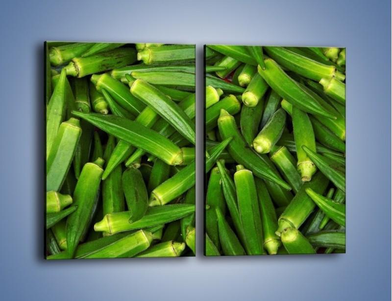 Obraz na płótnie – Warzywna egzotyka – dwuczęściowy prostokątny pionowy JN191