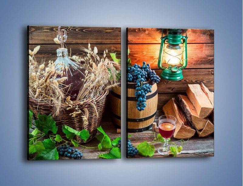 Obraz na płótnie – Wino według własnego przepisu – dwuczęściowy prostokątny pionowy JN202
