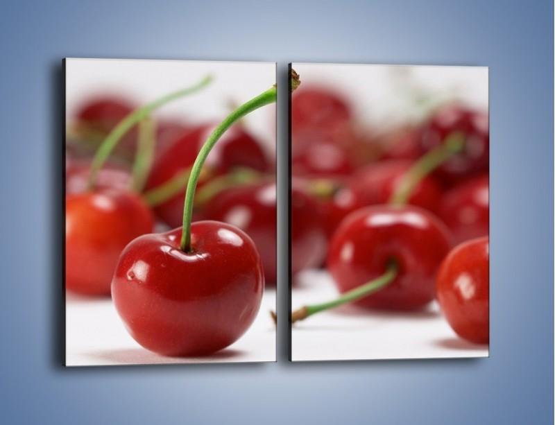 Obraz na płótnie – Czereśnia rządzi w kuchni – dwuczęściowy prostokątny pionowy JN223