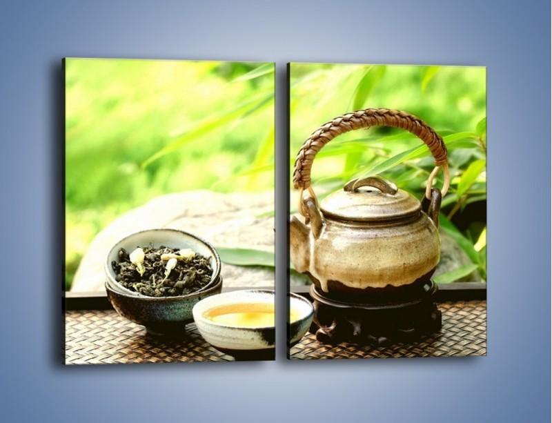 Obraz na płótnie – Herbata na świeżym powietrzu – dwuczęściowy prostokątny pionowy JN249