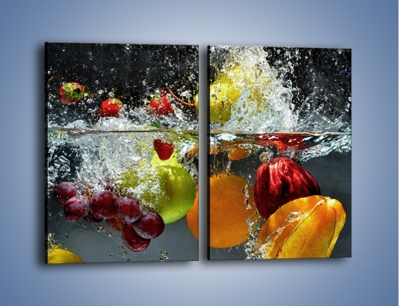 Obraz na płótnie – Głębokie owocowe zanurzenie – dwuczęściowy prostokątny pionowy JN253