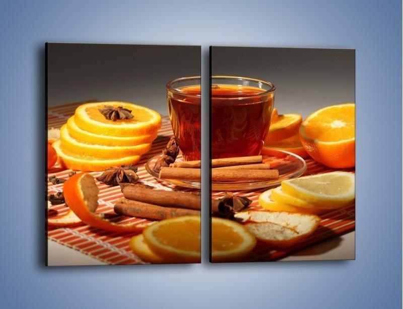 Obraz na płótnie – Imbirowo-pomarańczowe rozluźnienie – dwuczęściowy prostokątny pionowy JN260