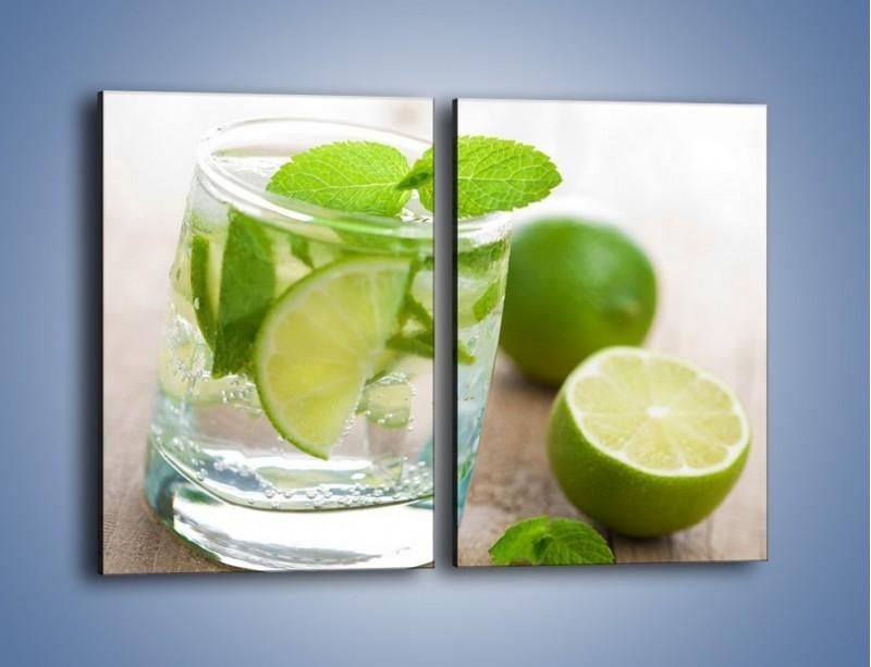 Obraz na płótnie – Limonkowy napój – dwuczęściowy prostokątny pionowy JN262