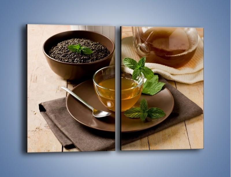 Obraz na płótnie – Filiżanka herbaty na poprawę humoru – dwuczęściowy prostokątny pionowy JN264
