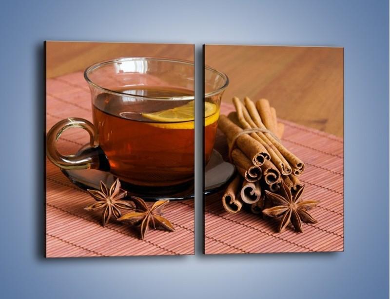 Obraz na płótnie – Rozgrzewająca filiżanka herbaty – dwuczęściowy prostokątny pionowy JN266