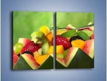 Obraz na płótnie – Arbuzowa misa z owocami – dwuczęściowy prostokątny pionowy JN274