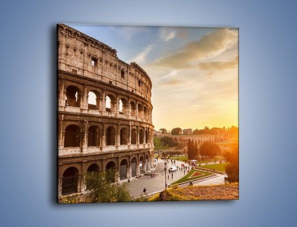 Obraz na płótnie – Zachód słońca nad Rzymem – jednoczęściowy kwadratowy AM763