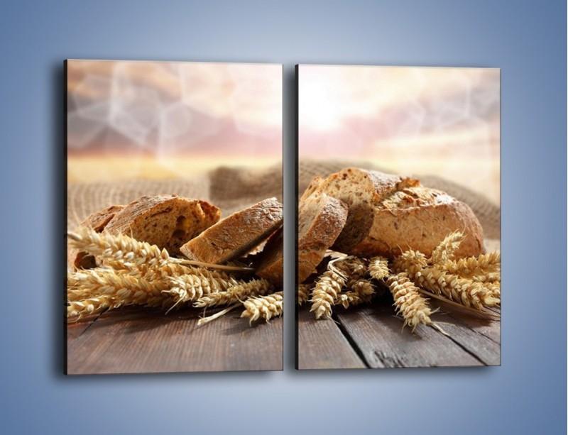 Obraz na płótnie – Świeży pszenny chleb – dwuczęściowy prostokątny pionowy JN287