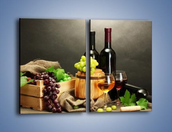 Obraz na płótnie – Wytrawne smaki wina – dwuczęściowy prostokątny pionowy JN289