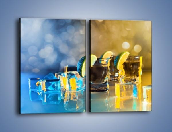 Obraz na płótnie – Zimne shoty z limonką – dwuczęściowy prostokątny pionowy JN294