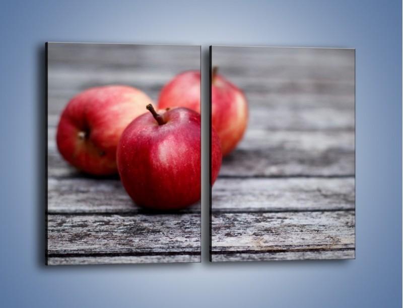 Obraz na płótnie – Jabłkowe zdrowie – dwuczęściowy prostokątny pionowy JN296