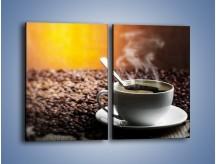 Obraz na płótnie – Aromatyczna filiżanka kawy – dwuczęściowy prostokątny pionowy JN298