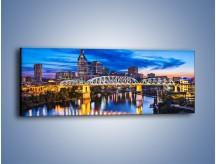 Obraz na płótnie – Most Shelby Street w Nashville – jednoczęściowy panoramiczny AM489