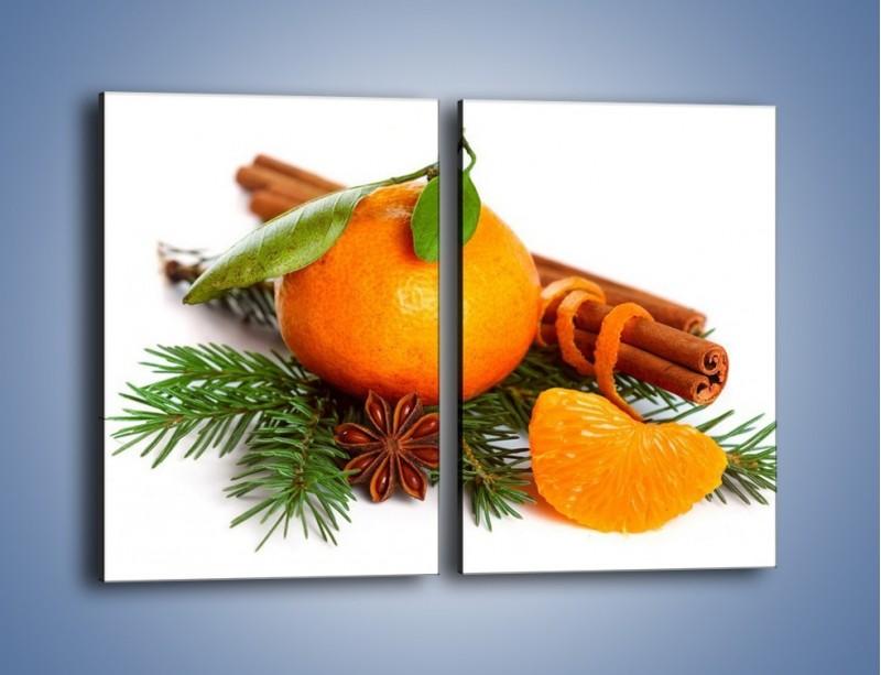 Obraz na płótnie – Pomarańcza na święta – dwuczęściowy prostokątny pionowy JN306