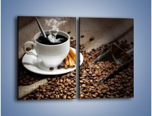 Obraz na płótnie – Czarna palona kawa – dwuczęściowy prostokątny pionowy JN311