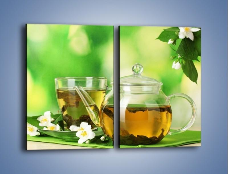 Obraz na płótnie – Herbaciane ukojenie – dwuczęściowy prostokątny pionowy JN316