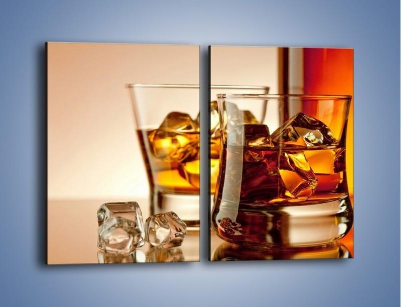 Obraz na płótnie – Męskie rozmowy przy whisky – dwuczęściowy prostokątny pionowy JN318