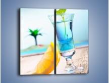 Obraz na płótnie – Blue curacao z miętą – dwuczęściowy prostokątny pionowy JN326
