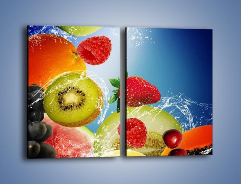 Obraz na płótnie – Owoce o poranku – dwuczęściowy prostokątny pionowy JN331