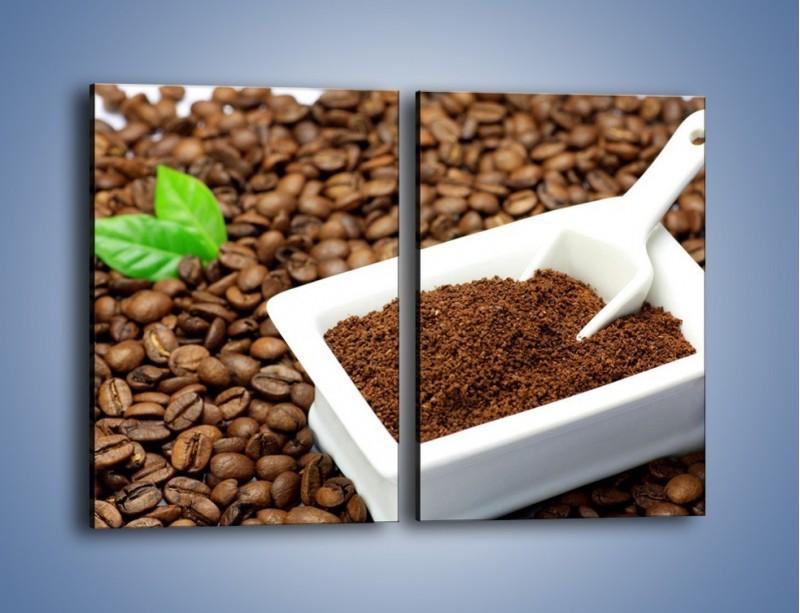 Obraz na płótnie – Zmielona kawa – dwuczęściowy prostokątny pionowy JN340