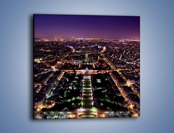 Obraz na płótnie – Panorama Paryża z Wieży Eiffla – jednoczęściowy kwadratowy AM764