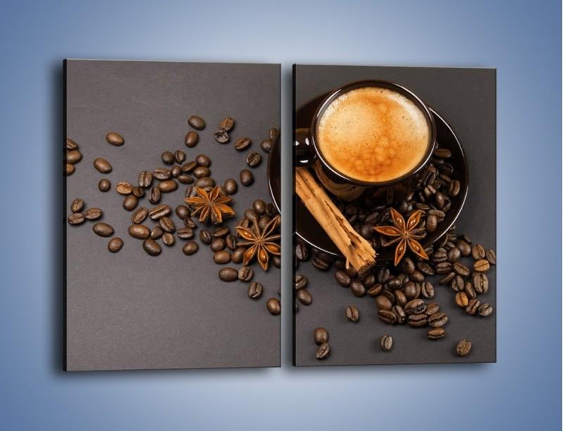 Obraz na płótnie – Kawa z goździkiem – dwuczęściowy prostokątny pionowy JN349