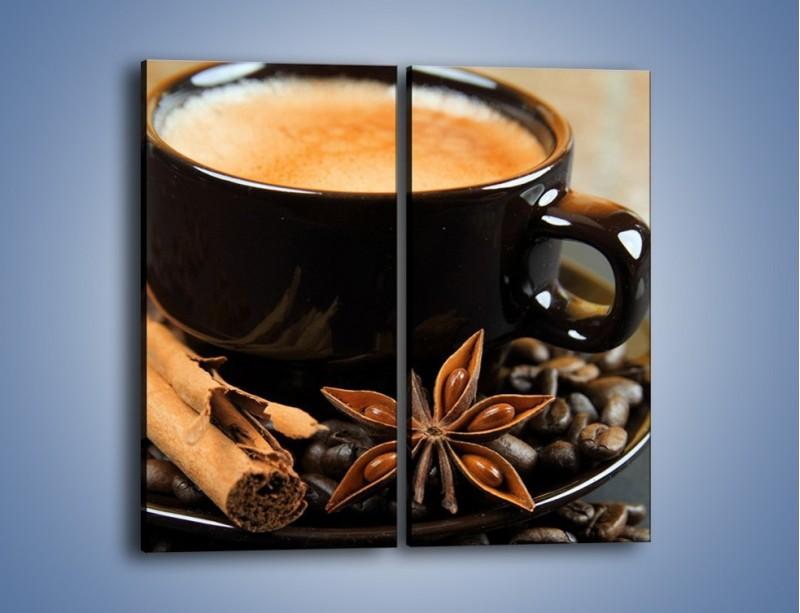 Obraz na płótnie – Spieniona kawa z goździkami – dwuczęściowy prostokątny pionowy JN350