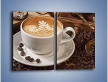 Obraz na płótnie – Czas na kawę – dwuczęściowy prostokątny pionowy JN353