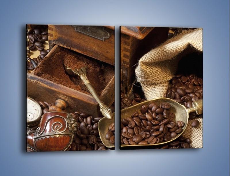 Obraz na płótnie – Szuflada pełna kawy – dwuczęściowy prostokątny pionowy JN356