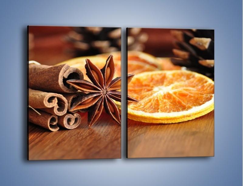Obraz na płótnie – Pomarańcza z dodatkami – dwuczęściowy prostokątny pionowy JN357