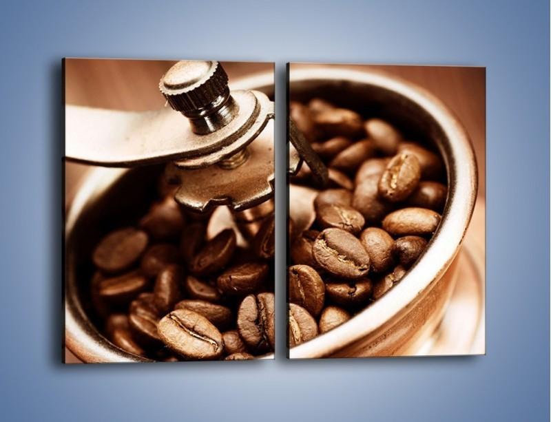 Obraz na płótnie – Kawa w młynku – dwuczęściowy prostokątny pionowy JN361