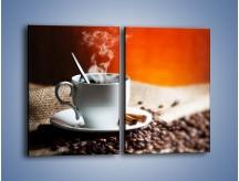 Obraz na płótnie – Aromatyczny zapach kawy – dwuczęściowy prostokątny pionowy JN374