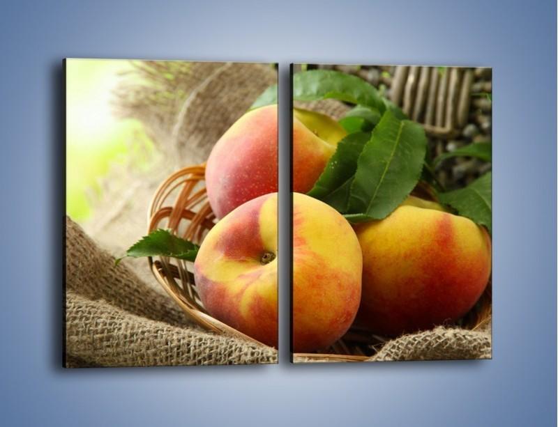 Obraz na płótnie – Dojrzałe jabłka w koszu – dwuczęściowy prostokątny pionowy JN390