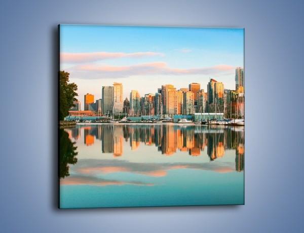 Obraz na płótnie – Widok na Vancouver – jednoczęściowy kwadratowy AM765