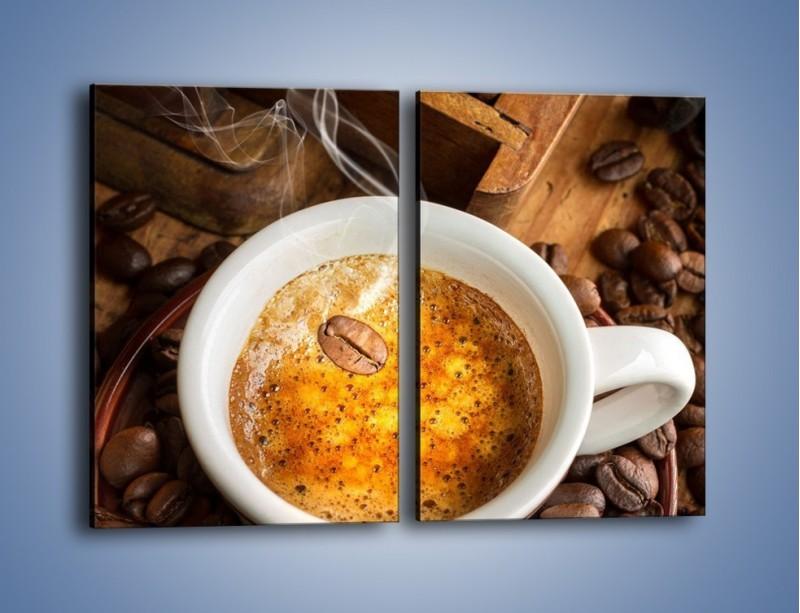 Obraz na płótnie – Ziarna zatopione w kawie – dwuczęściowy prostokątny pionowy JN416
