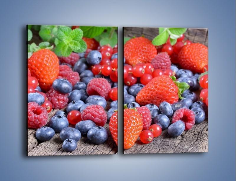 Obraz na płótnie – Owoce z działki – dwuczęściowy prostokątny pionowy JN422