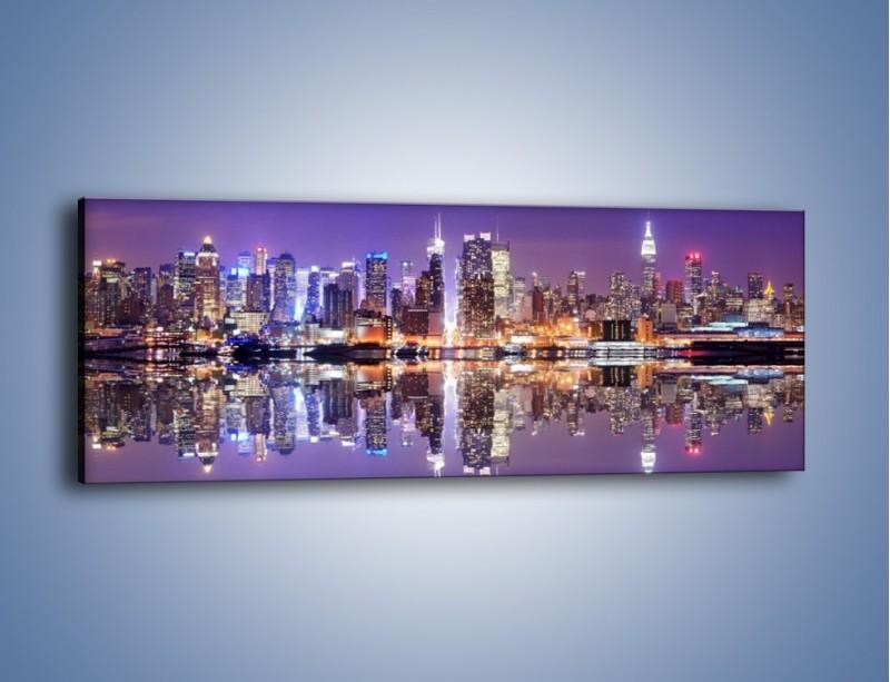 Obraz na płótnie – Panorama Midtown Manhattan – jednoczęściowy panoramiczny AM492