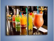 Obraz na płótnie – Barmańskie drinki – dwuczęściowy prostokątny pionowy JN433
