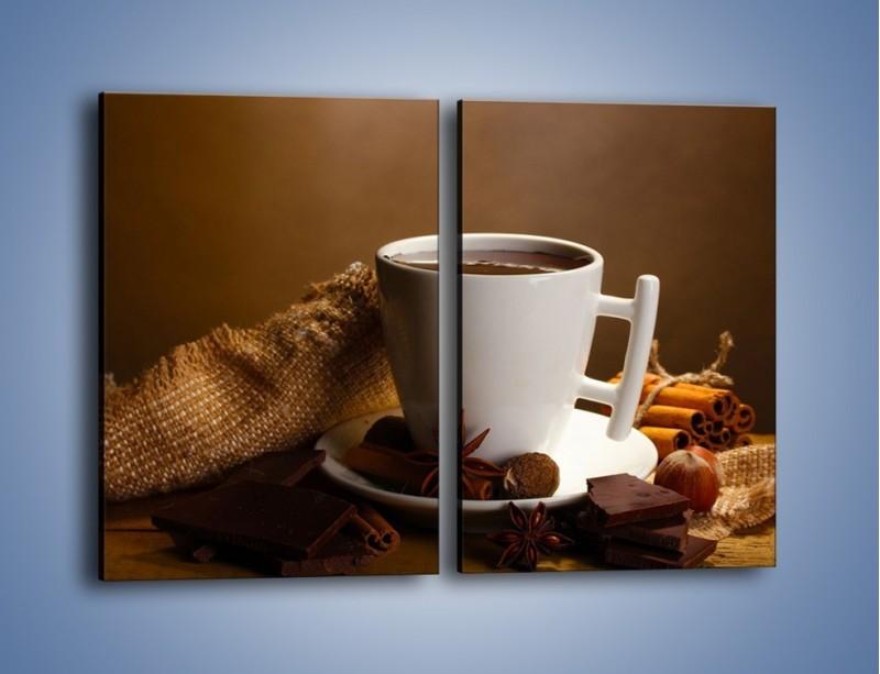 Obraz na płótnie – Gorąca czekolada z dodatkami – dwuczęściowy prostokątny pionowy JN452