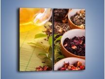 Obraz na płótnie – Aromatyczne przyprawy do herbaty – dwuczęściowy prostokątny pionowy JN492